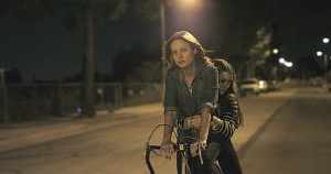 Grace (Brie Larson) gives Jayden (Kaitlyn Dever) a ride back to the facility in the film Short Term 12.  Photo courtesy Cinedigm