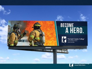As part of the district's 2014 advertising campaign, seven new billboard designs are set to roll out across the county. The billboards highlight a technical program from each campus.  Photo courtesy TCC
