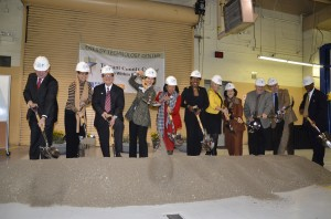 Georgia Phillips/The Collegian  TCC officials joined Fort Worth Mayor Betsy Price on South Campus March 3 to break ground on the new Energy Technology Center, scheduled to be completed in Fall 2015.