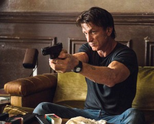 Sean Penn is both assassin and target in The Gunman.  Photo courtesy Open Road Films
