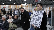 Jose Antonio Vargas was escorted out of a Mitt Romney campaign rally in the film Undocumented directed by Vargas. Photo courtesy CNN Films