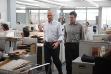 Michael Keaton and Mark Ruffalo work together during The Boston Globe's investigation into the Catholic Church in Spotlight.Photo courtesy Open Road Films