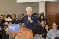 "Former president Bill Clinton speaks to a crowd of TCC students, faculty, staff and local residents on TR Campus Feb. 29. He focused on big topics like immigration, student loans and the polarization of the political climate. ""A student loan is the only loan you can't refinance. Did you know that?"" he said.Photos by Bogdan Sierra Miranda/The Collegian"