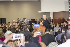 Bill Clinton talked about student loans, police reform and Republicans.Bogdan Sierra Miranda/The Collegian