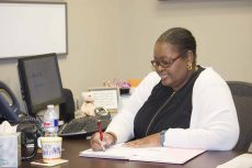 Yolanda Hughes coordinates the Pathways program on NE Campus. Pathways works to prepare students with disabilities for college and the workforce, giving them hands-on training.Zuleima Zeigler/The Collegian
