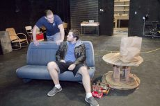 Students Carson Cockrell and Travis Brents rehearse for last fall's NW Campus production of Lone Star. Four campuses are planning for their fall drama productions this year.Collegian file photos