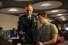 A military official discusses top secret information with Edward Snowden (Joseph Gordon-Levitt). The film Snowden follows the whistleblower as he learns the extent of surveillance done by the CIA and NSA.Photo courtesy Open Road Films