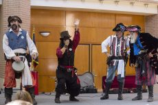 The Bilge Pumps bring back some classic dance moves during their performance on Monday on SE Campus. Talk Like a Pirate Day called for costumes, students' best pirate accents and mischievous fun.Photos by Kaylee Jensen/The Collegian