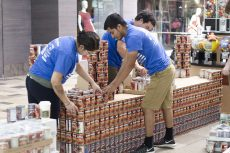 South Campus students in the architectural program competed against architect and engineering firms at Fort Worth's CANstruction competition at North East Mall in Hurst. The students recreated the old Dallas County Courthouse.  Bogdan Sierra Miranda/The Collegian