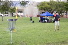 A NW participant lines up his shot at the annual 2015 disc golf tournament. The campus will host this year's tournament Oct. 22. Registration is open until the day of the event.  Collegian file photo