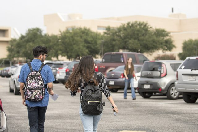 NW students walk to class on the first day of the fall semester Aug. 28.