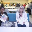 NW Workforce Center manager Keycha Jones and NW career services coordinator Tracy Williams pose for a photo in the Workforce Center, which opened in September.