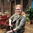 South Campus theater adjunct instructor Sherry Jo Ward sits in her walker throughout most of her play, which is based on her Stiff Person Syndrome diagnosis.