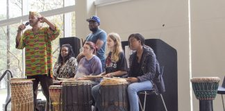 The International Festival allows South Campus students to experience different musical instruments from across the world Nov. 17.
