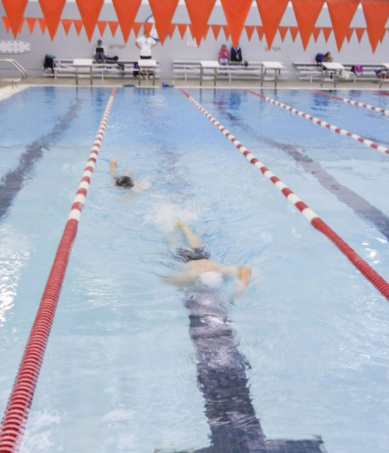 Swimmers take to the lanes to practice their technique for Sigma Six Swim Club Nov. 9 on NW Campus.