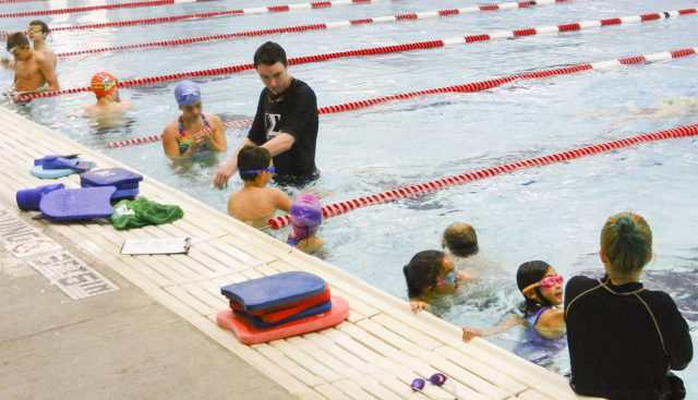 Sigma Six Swim Club members work on technique during practice Nov. 9 on NW Campus. Sigma offers both competitive swimming opportunities as well as swimming lessons to those in the community.