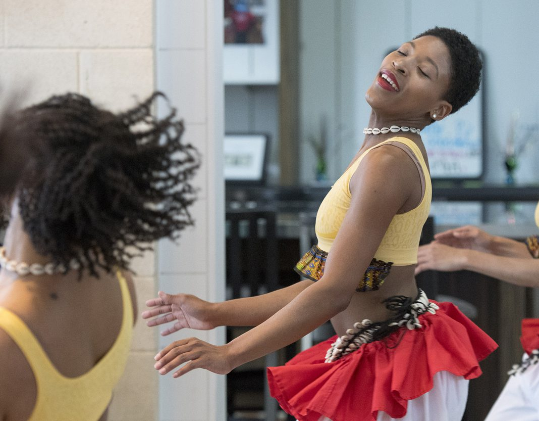 Dancer and choreographer Christen Williams introduced each performance and shared stories about the African-American culture and dances in and around Dallas.