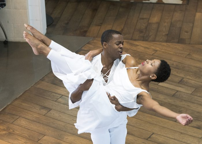 """Christen Williams performed """"Freedom"""" with a partner during the event that was part of a Black History Month event on TR Campus Feb. 8."""