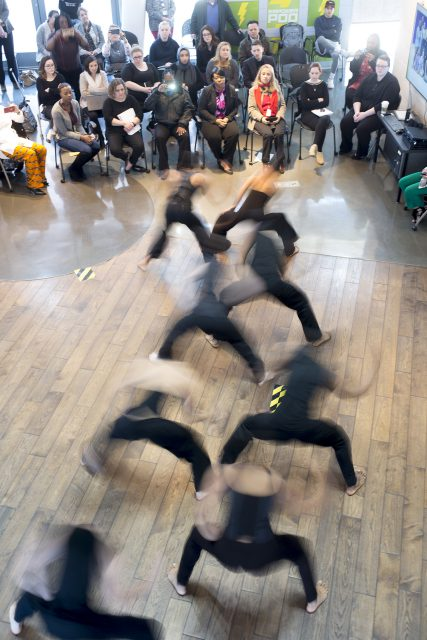 "Dancers from the Dallas Black Dance Theatre performed several dances during the ""Connecting Dance and Culture"" event on TR Campus Feb. 8."