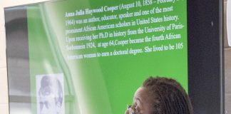 As part of the TR Black History Month events, University of Texas at Arlington black studies professor Pamela Hill spoke Feb. 7 on how far black women have come.