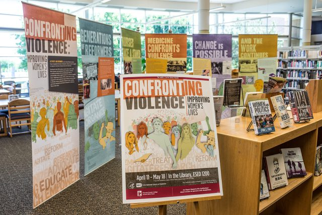 The exhibition runs through May 18 in the Judith J. Carrier Library on SE Campus. The National Library of Medicine produced the exhibit.