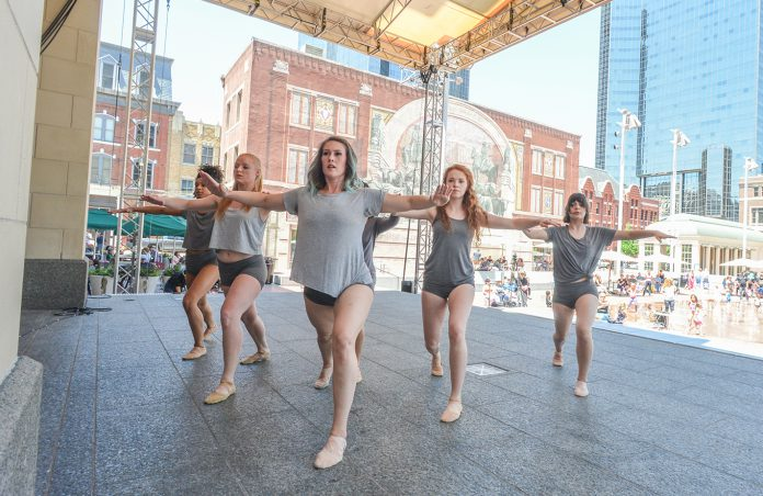 The imPULSE Dance Project performs last year in Sundance Square. This year's dance showcase Merge will start at 5:30 p.m. April 12 in downtown Fort Worth.