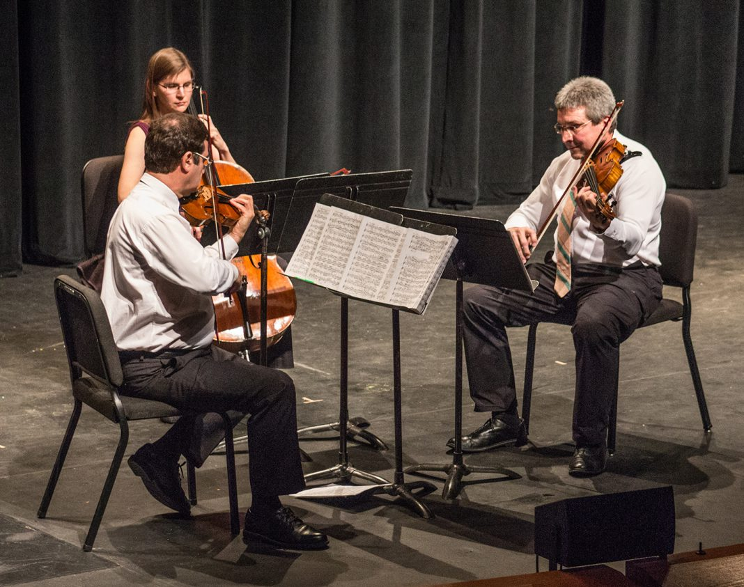 The professional string musicians group Yellow Rose Trio performs April 19 at the SE Campus theater.