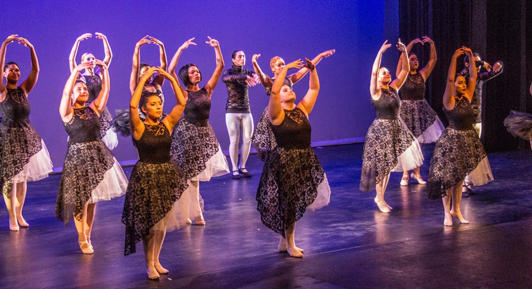 SE dancers perform a piece they helped choreograph with dance associate professor Brandy Niccolai-Belfi, who found the inspiration for the piece at a conference.