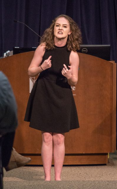 TR student Christina Cranshaw was one of the students from TR's Acting 1, 2 and 3 classes to perform at the event.