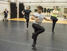 Students practice for a performance. The dance program provides students 17 different styles of dance to study.