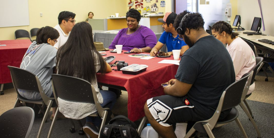 TR students and staff get to know each other during the Intercultural Network's open house Aug. 23. The Intercultural Network is a district initiative with coordinators on each campus.
