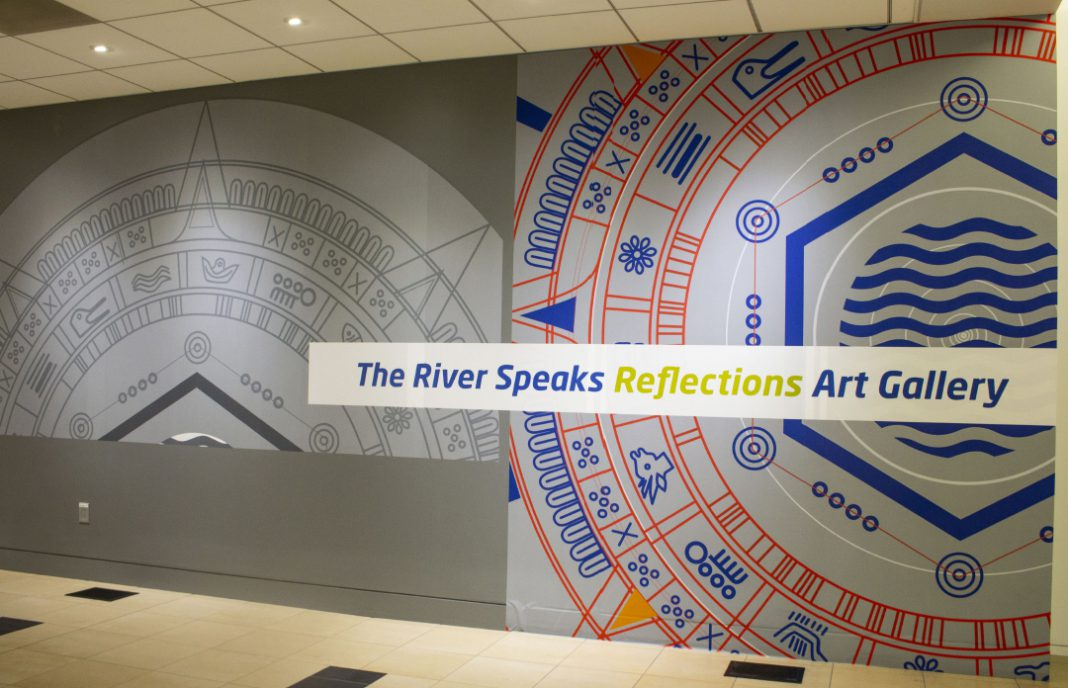 Those interested in viewing the exhibit can locate The River Speaks Reflections Art Gallery outside of the Energy Room on the fourth floor of the TRTR building on TR.