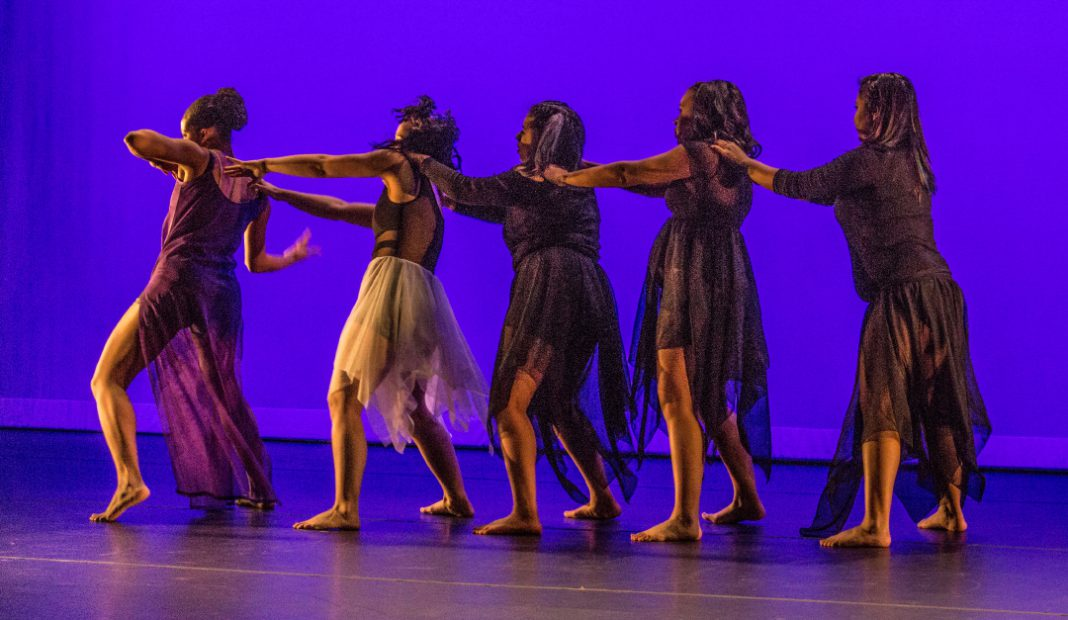 NW students perform a student-choreographed piece during the student showcase in April. The college's dance programs welcome everyone regardless of prior experience or skill level.