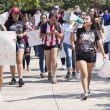 "South students march through campus chanting ""Who are we? DACA. What do we want? Support"" during the Sept. 14, 2017, protest on South Campus. TCC students rallied together to raise awareness of issues concerning DACA."