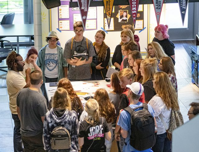 TR students and visiting high schoolers learn more about American Sign Language at a presentation during the event Oct. 4 on TR.