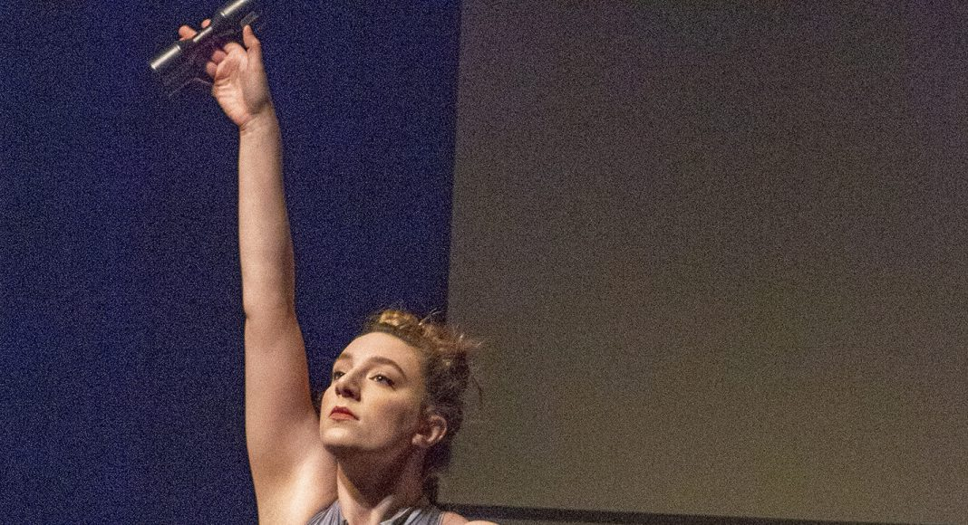 """SE dance adjunct instructor Claire Augustine performs the piece """"Found Objects."""""""