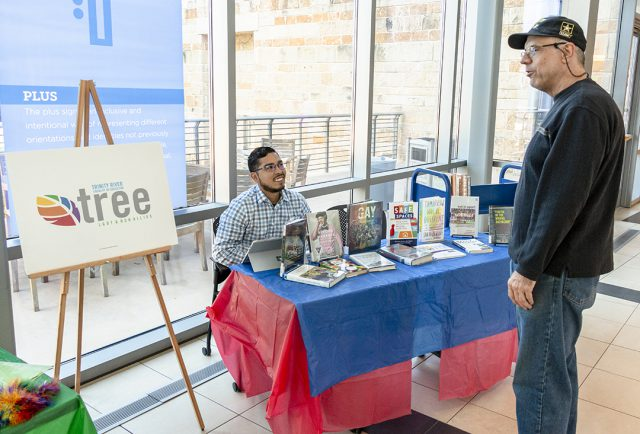 LGBTQ books were on display for students to peruse and learn more about the community and its history during the National Coming Out Day event Oct. 11 on TR.