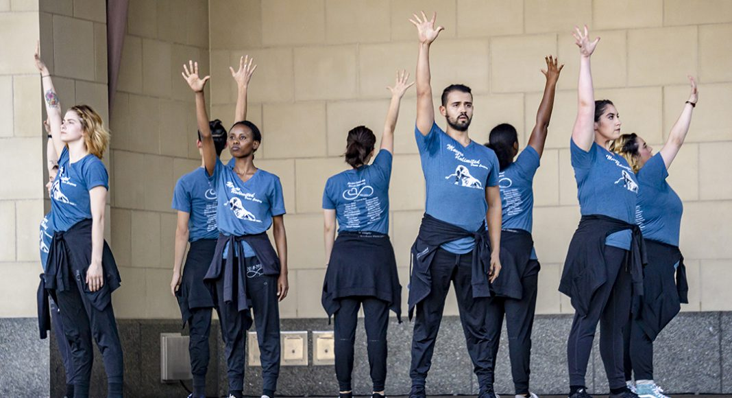 """NE's Movers Unlimited performs """"#loveyoself"""" Oct. 3 at Converge in downtown Fort Worth's Sundance Square."""