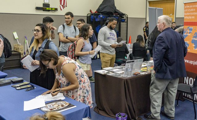 NW students attend the First Responders and Helping Professions Job Fair Oct. 4 on NW to find out more about employment opportunities in police departments as well as job opportunities at UPS and Amazon.