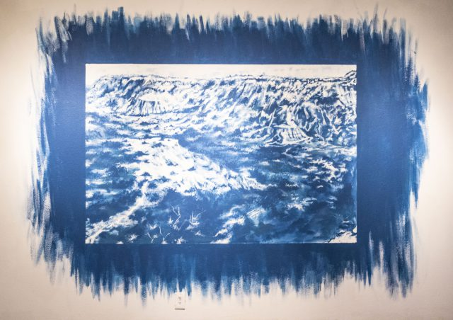 Cliffside in Cyanotype, Humna Raza