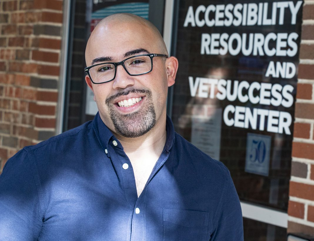 Veteran success assistant Abdel Casiano went from sailor, detention officer to college student with the assistance from the VetSuccess center on South Campus.