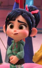 Vanellope stumbles into a room full of Disney princesses in Ralph Breaks the Internet.