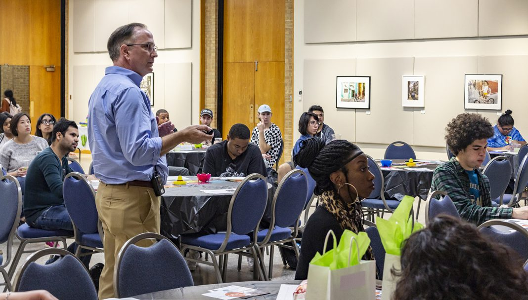 During the emotional intelligence presentation, NE business assistant professor Randy Saleh clarifies why communication is the most important interpersonal skill in the workplace.