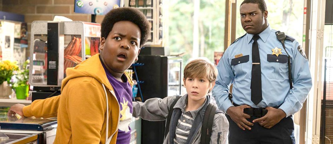 Sam Richardson, Jacob Tremblay, and Keith L. Williams in Good Boys (2019) Courtesy Good Universe and Universal Studios