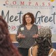 TR vice president of student development services Julie Amon speaks to C.O.M.P.A.S.S. members. Photo by Joseph Serrata/The Collegian