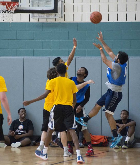 The SE basketball tournament ended March 10 when the Bulls defeated two teams to take the title. Each Bulls team member received a yellow Nike bag for winning.