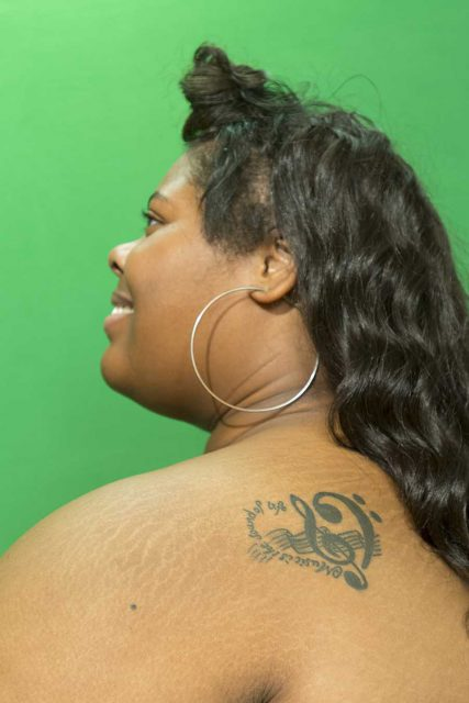 NE student Janaysha Brown's tattoo represents her love of music.