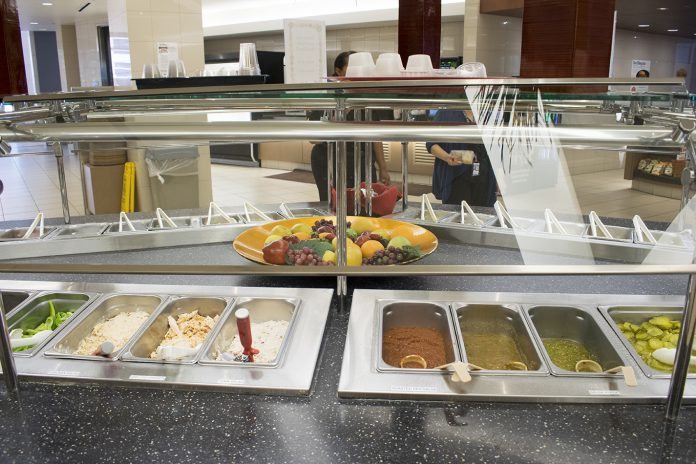 TR's Riverfront Cafe offers a wide variety of food selections to help students maintain healthy eating habits while studying and attending classes on campus.