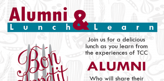 TCC alumni will speak at a luncheon Sept. 27 on NE Campus.