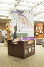 The exhibit and display also feature a stand-alone display of the Bill of Rights, provided by the National Archives.